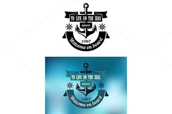 Marine Heraldic Label