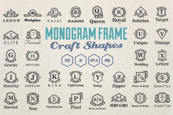Monogram Frames Craft Shapes