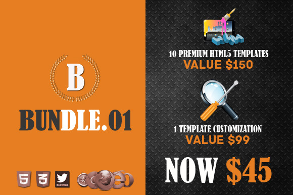 Premium HTML5 Template Bundle 01