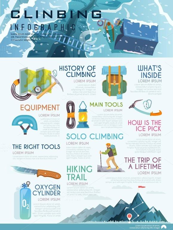 Climbing Infographic