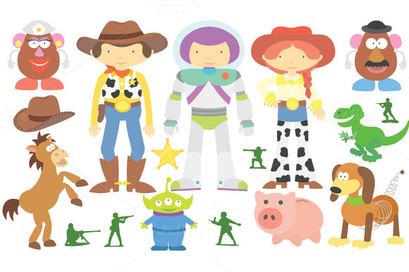 Toy Story Clipart Set