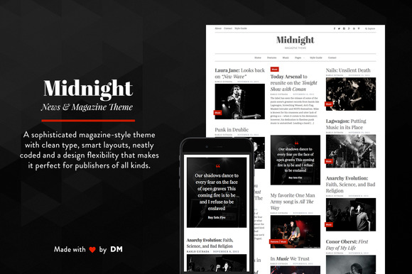 Midnight A Magazine Style Theme