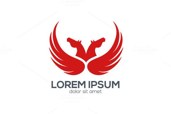 Red Pegasus Logo Design
