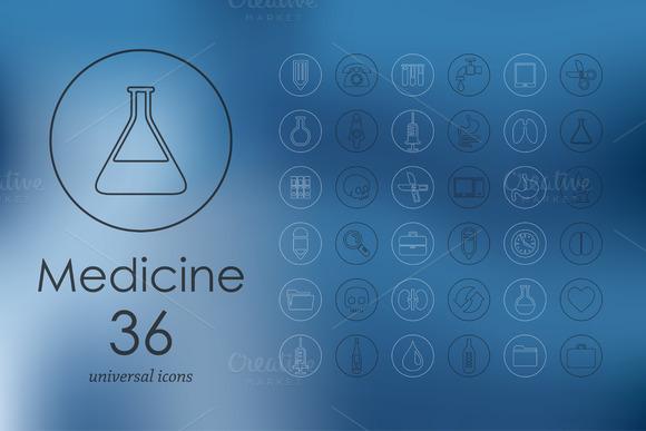 36 Medicine Icons