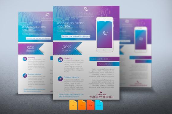 free flyer download minimalist event 187 designtube