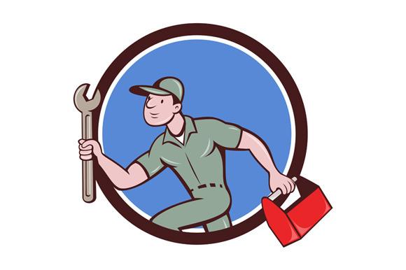 Mechanic Spanner Toolbox Running Cir