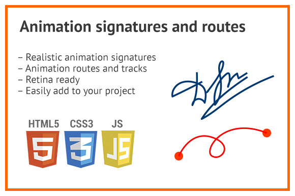 Animation Svg Icon Signature Route