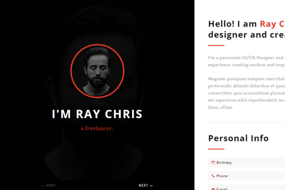 Yoursite VCard Resume Template