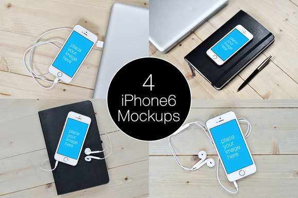 4-iPhone 6 Mockup Templates