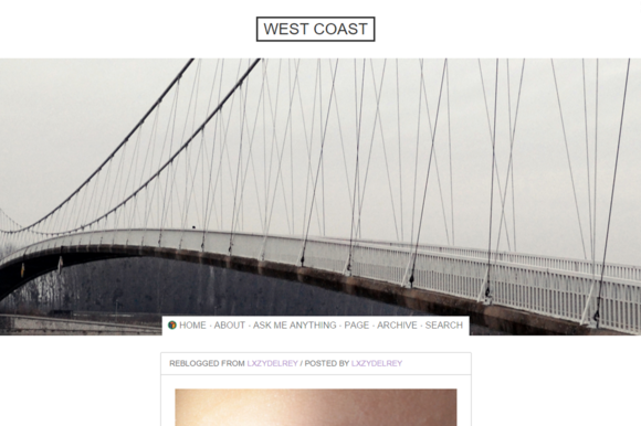 West Coast Tumblr Theme