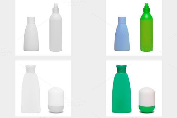 Set Of Cosmetic Bottles Vector