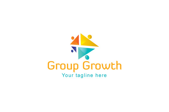 Group Growth Stock Logo Template