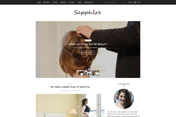 Sapphire- Clean WordPress Blog Theme