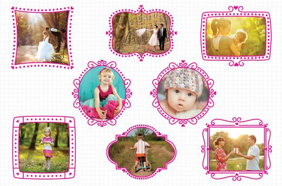 Pink Heart Photograph Frames
