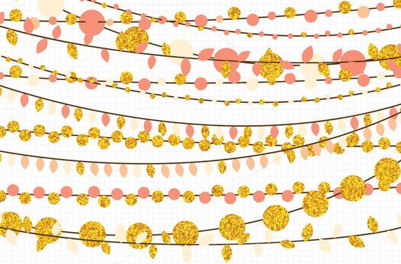 Gold Glitter String Lights