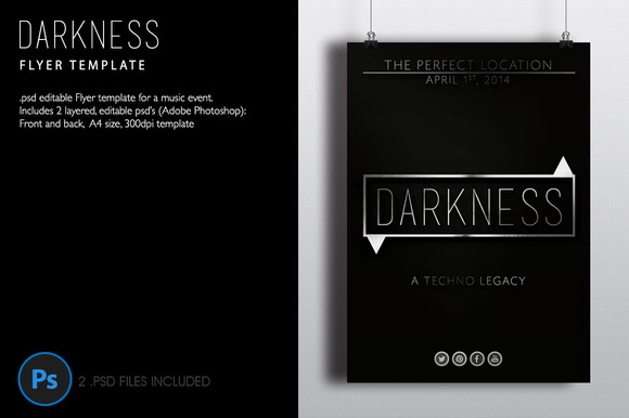 Darkness Flyer Template