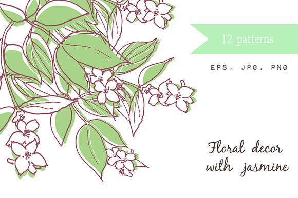 12 Wedding Cards With Jasmine
