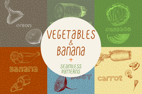 Vegetables Illustrations Patterns