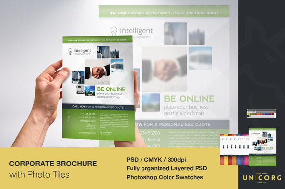 Business Brochure With Photo Tiles