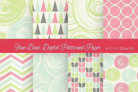 Fleur Deux Digital Paper Scheme 1