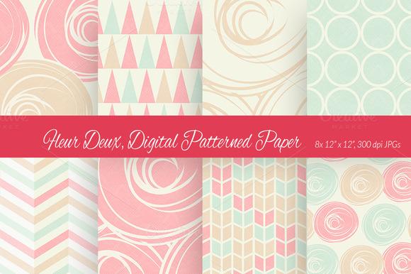 Fleur Deux Digital Paper Scheme 3