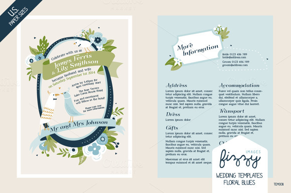 28 X U.S Size Wedding Templates