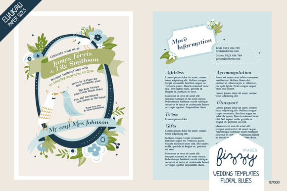 28 X EU UK AU Wedding Templates