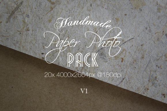 Handmade Paper Photo Pack V1
