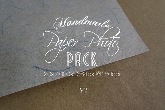 Handmade Paper Photo Pack V2