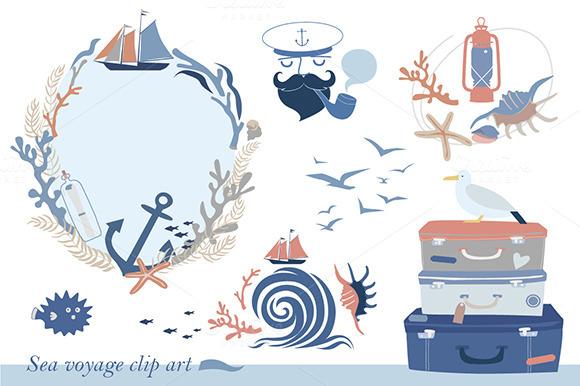 Sea Voyage Clip Art
