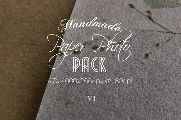 Handmade Paper Photo Pack V4