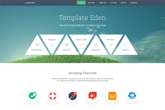 Jumper Single Page Template