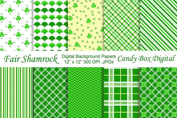Fair Shamrock Background Papers