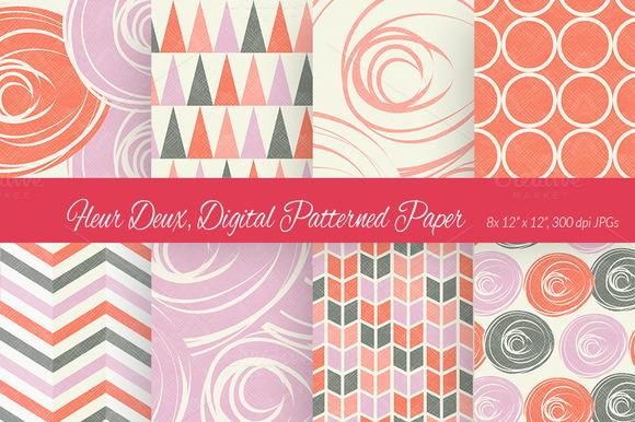 Fleur Deux Digital Paper Scheme 4