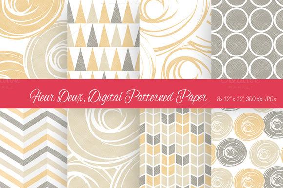 Fleur Deux Digital Paper Scheme 5