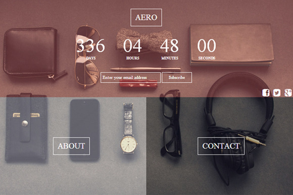 Aero Html Coming Soon Page