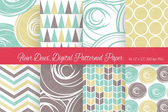 Fleur Deux Digital Paper Scheme 6
