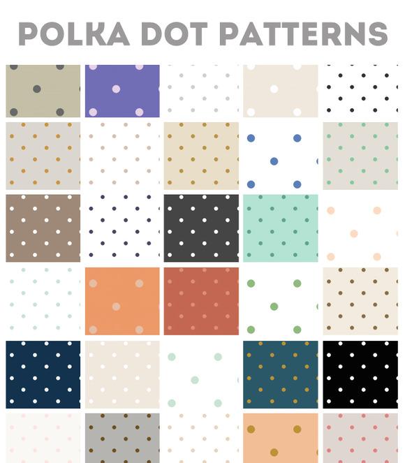 50 Repeating Polka Dot Patterns