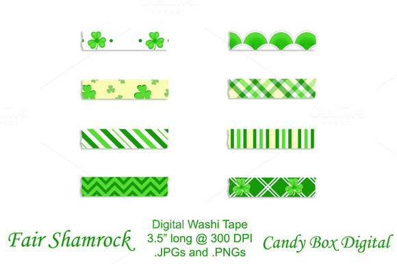 Fair Shamrock Digital Washi Tape