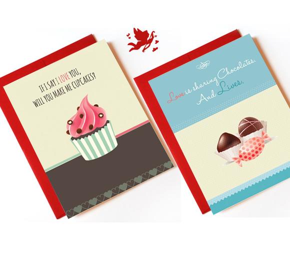 ValentineЎЇs Day Cards Set