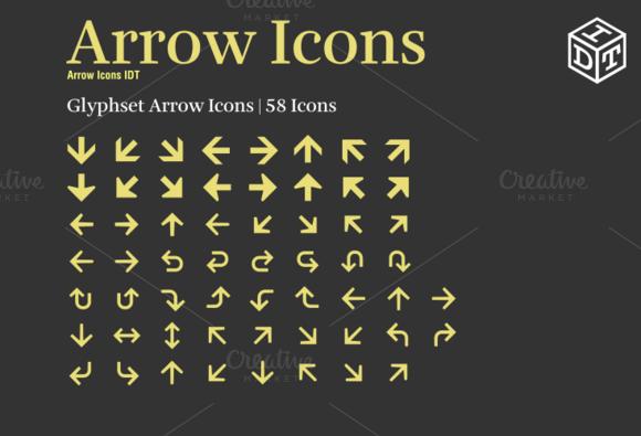 Arrow Icons Font Web Font