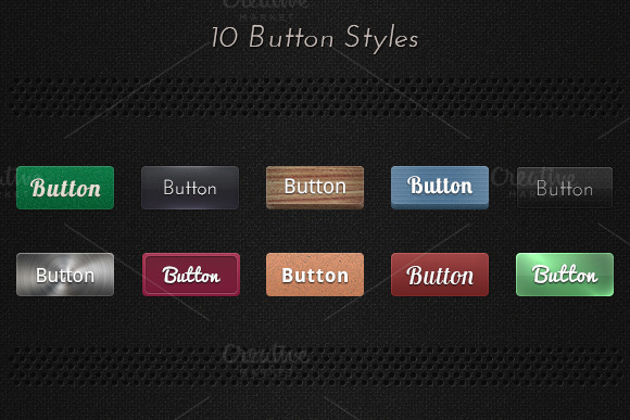 10 Button Styles