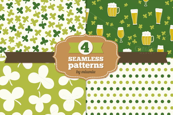 Set Of Holiday Seamless Patterns