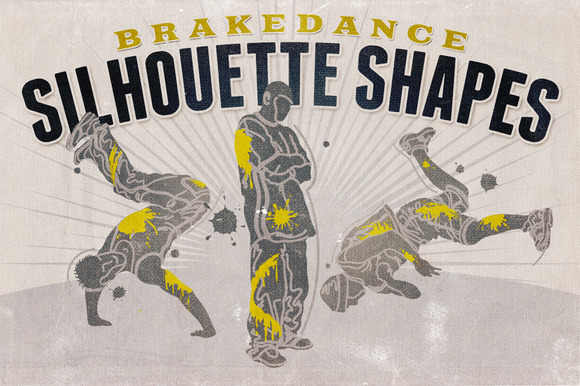 Silhouette Shapes Brakedance