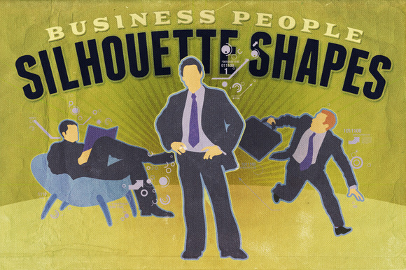 Silhouette Shapes Business People