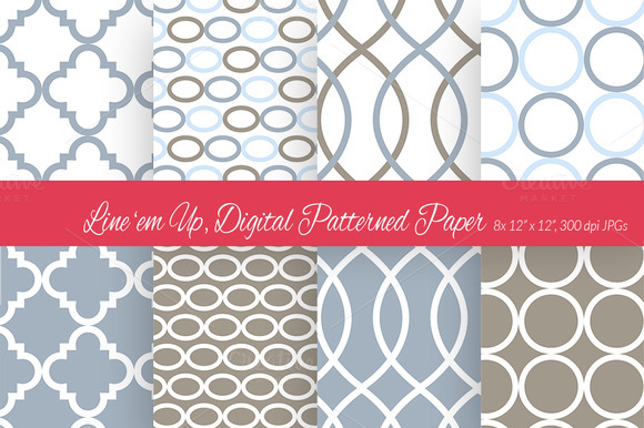 Line Em Up Digital Paper Scheme 1