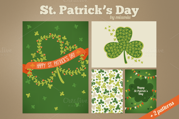 St Patrick S Day Cards And Patterns
