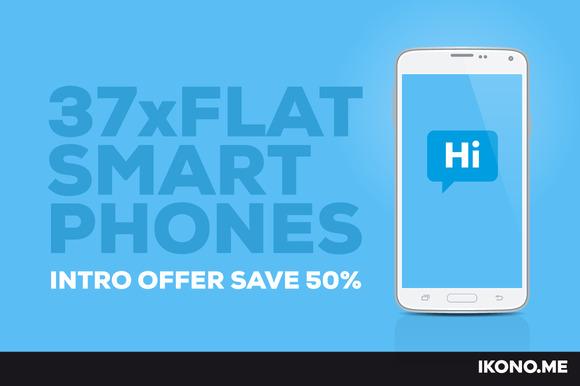 37 Flat Smartphones