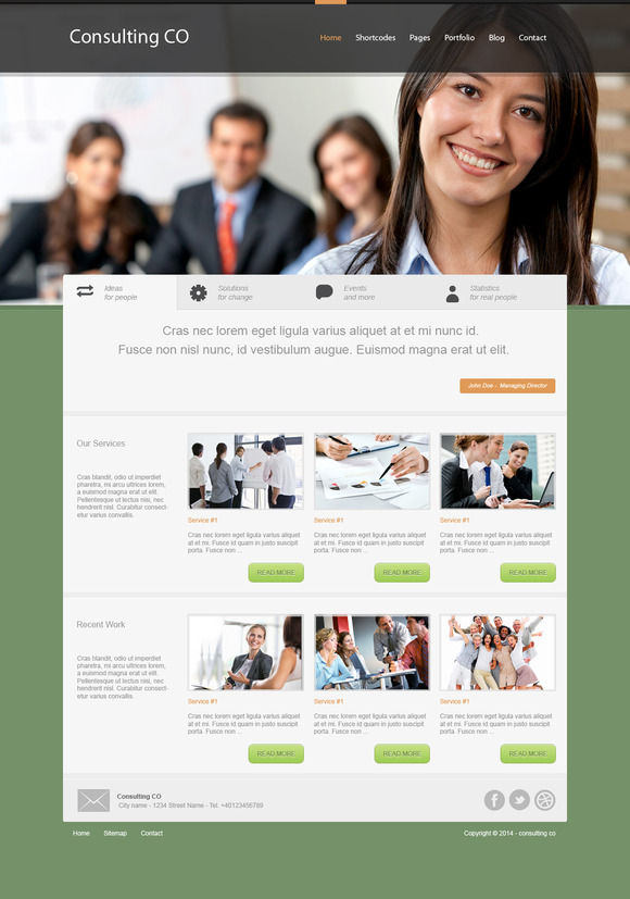 Consulting Home Page PSD Templates
