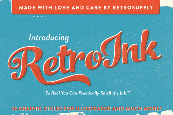 RetroInk Huge Illustrator Kit